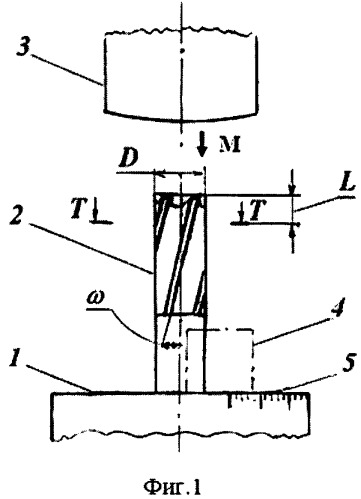 Способ определения переднего угла в торцовом сечении концевых фрез