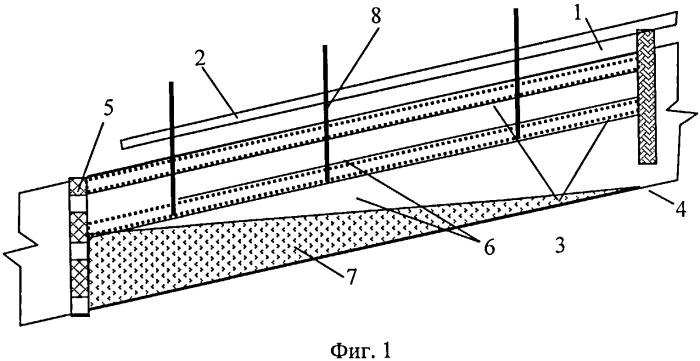 Способ возведения закладочного массива при разработке месторождений в условиях вечной мерзлоты