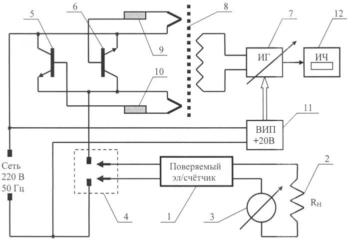 Устройство для поверки индукционных приборов учета электроэнергии