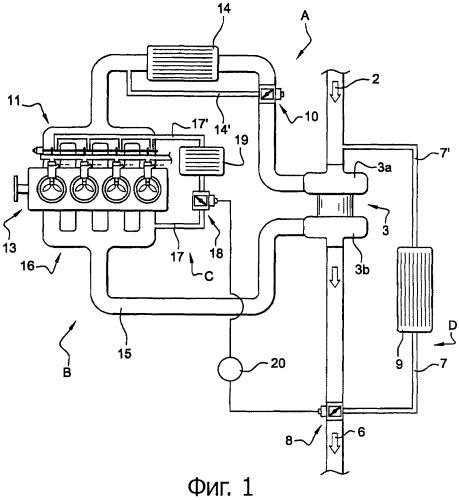Тепловой двигатель внутреннего сгорания, система регулирования, способ определения размерности для двигателя и автотранспортное средство с двигателем