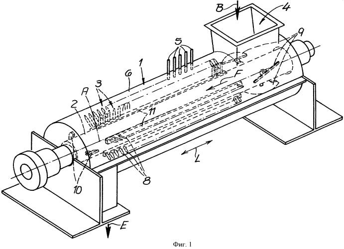 Способ и устройство для непрерывного смешивания волокон со связующим