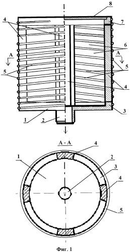Каркасно-проволочный фильтрующий элемент