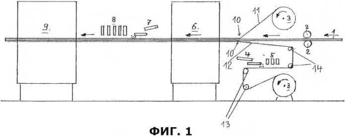 Способ и устройство для изготовления декорированной плиты, покрытой с обеих сторон