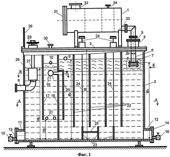 Установка для отделения от воды нефтепродуктов и мехпримесей