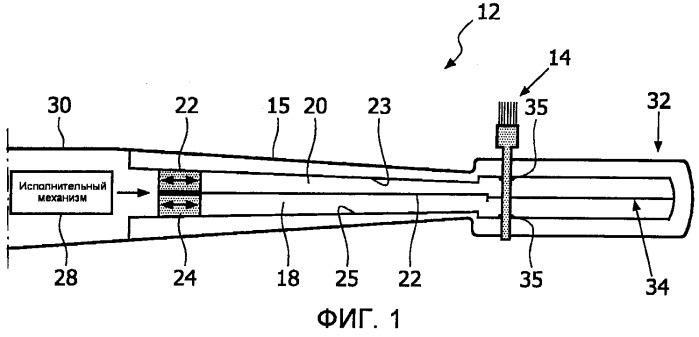 Находящаяся под давлением клапанная система для приведения в движение пучков щетинок