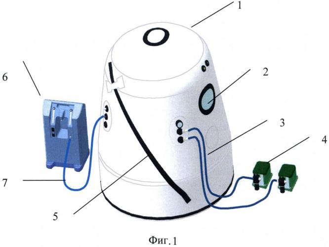 Мобильный дыхательный тренажер для проведения гипоксически-гипероксических тренировок