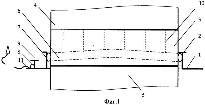 Устройство уплотнения грузовых трюмов безлюковых контейнеровозов