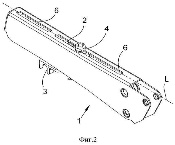 Несущий и нагрузочный кронштейн верхних валиков вытяжного механизма прядильной машины