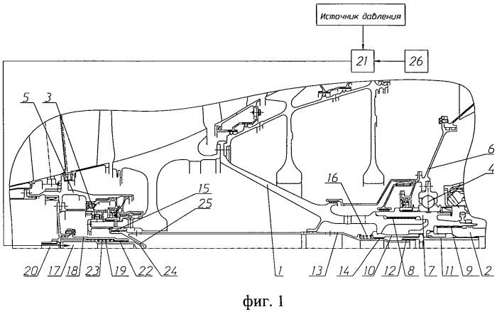 Узел отсоединения валов в роторе низкого давления газотурбинного двигателя