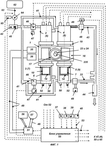 Восьмицилиндровый свободнопоршневой двигатель