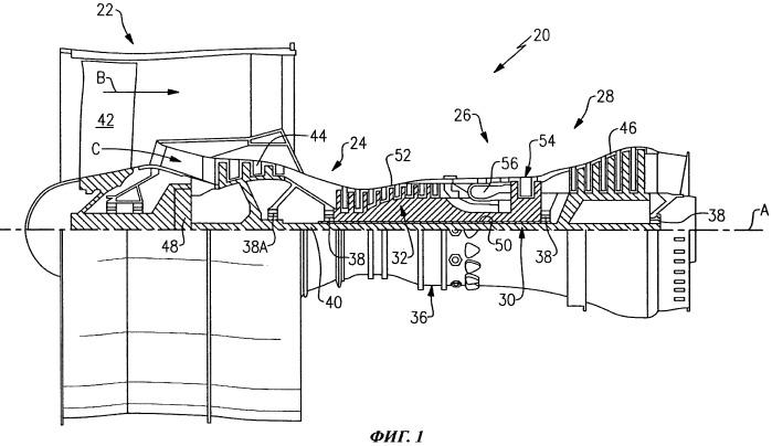 Газотурбинный двигатель и способ разборки передней части конструкции газотурбинного двигателя