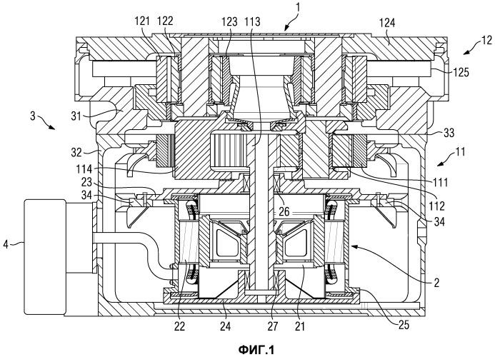 Система мельничного привода