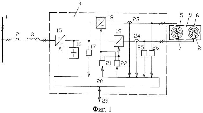 Судовая система электродвижения с двухвинтовым двигательно-движительным модулем с двигателями кольцевой конструкции