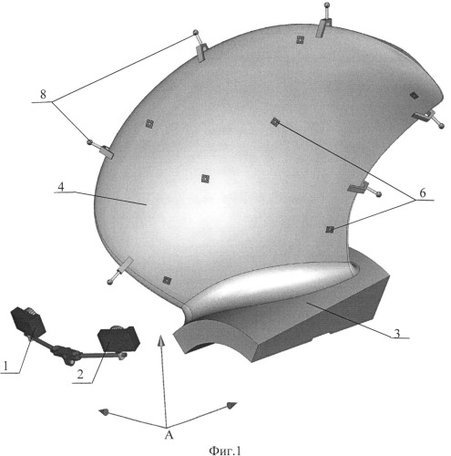 Способ фотограмметрического измерения размеров и контроля формы тела, ограниченного набором связанных между собой поверхностей