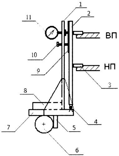Способ и устройство для проверки параллельности установочной линейки к оси нижнего переднего вальца лесопильной рамы