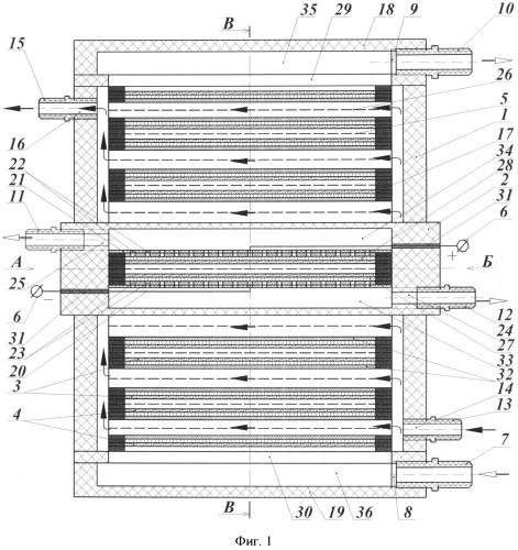 Электробаромембранный аппарат рулонного типа