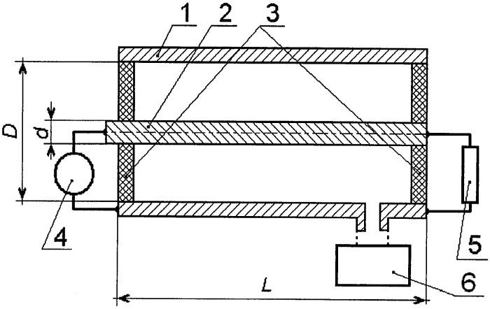 Генератор высокочастотного излучения на основе разряда с полым катодом (варианты)