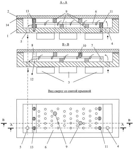 Устройство для охлаждения силовых электронных модулей