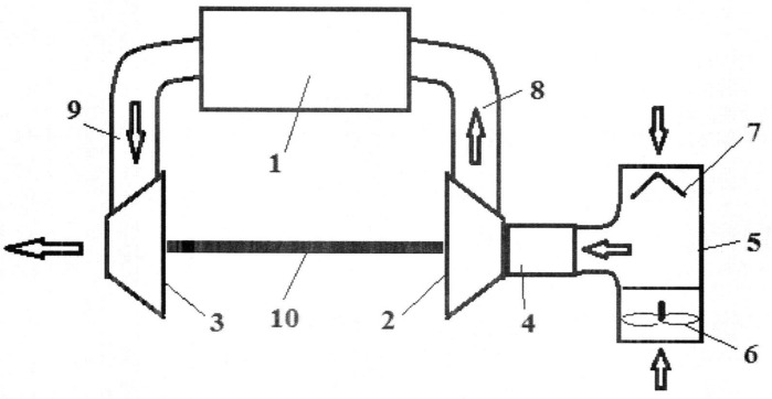 Способ и устройство запуска и охлаждения микро газотурбинного двигателя пусковым компрессором с воздушным клапаном