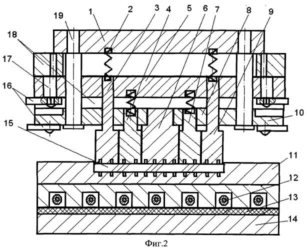 Способ и устройство для изготовления крупногабаритных ребристых панелей