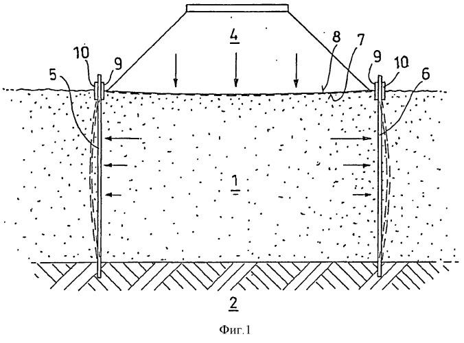 Способ стабилизации мягкого грунта для дамбы или отвала и дамба или отвал