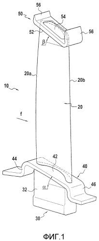 Способ изготовления турбомашинной лопатки, сделанной из композиционного материала