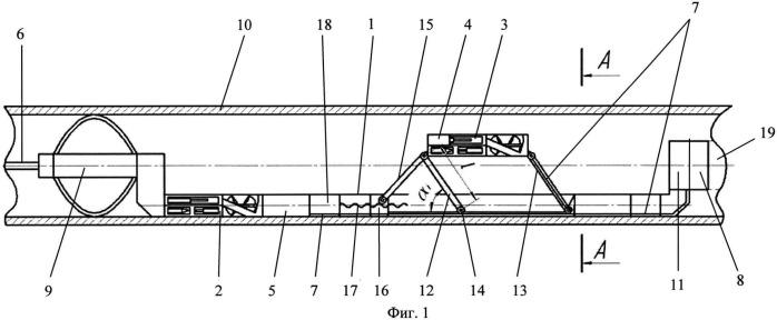 Устройство для пофазного замера физических параметров флюида в горизонтальной скважине