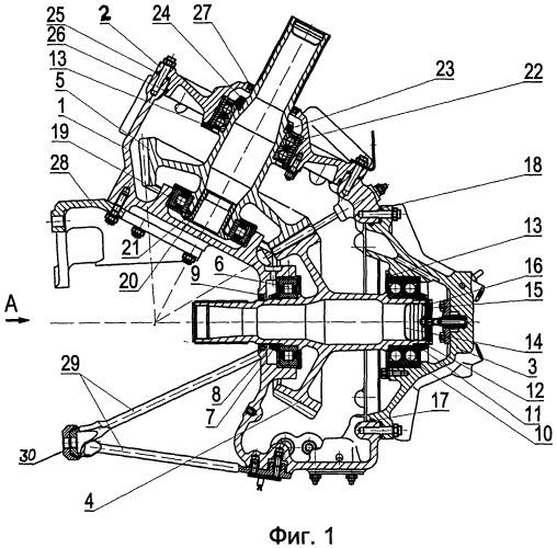 Промежуточный редуктор хвостовой трансмиссии вертолета