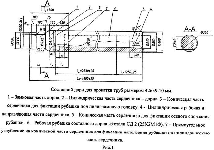 Способ изготовления и эксплуатации составных дорнов пилигримовых станов для производства горячекатаных труб большого и среднего диаметров