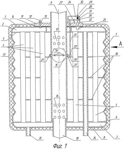 Газожидкостный кожухотрубный теплообменник с автоматической системой управления процессом теплообмена