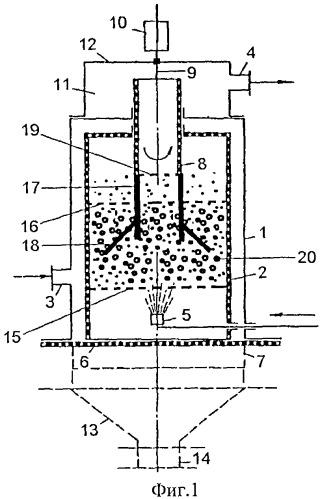 Камера для проведения тепломассообмена между диспергированными частицами и газообразной средой
