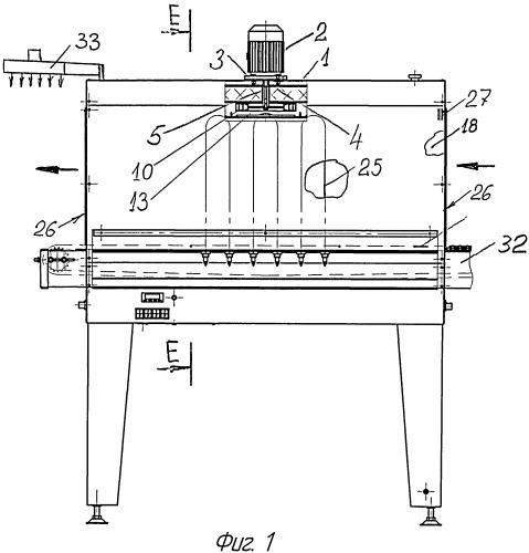 Устройство для обдува термотоннеля упаковочной линии и крыльчатка устройства
