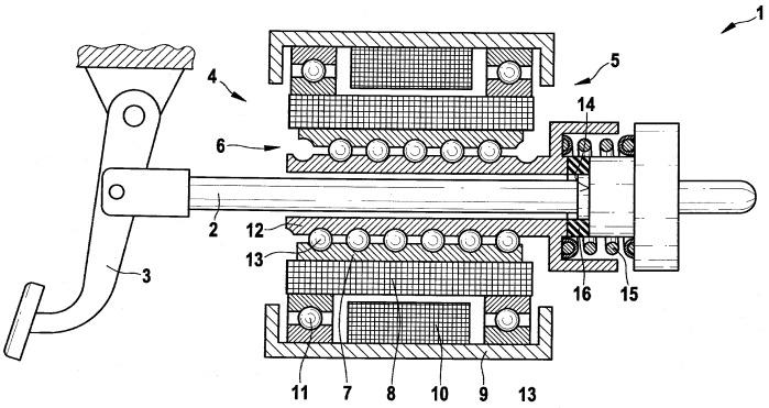 Электромеханический усилитель тормозного привода