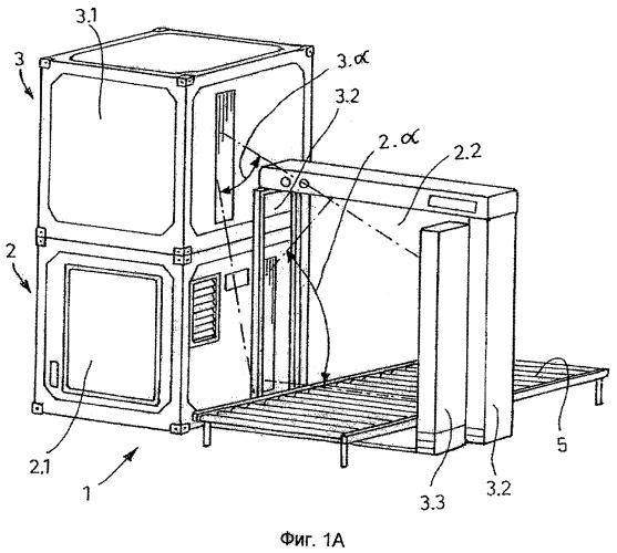 Установка для проверки объектов посредством электромагнитных лучей, прежде всего рентгеновских лучей