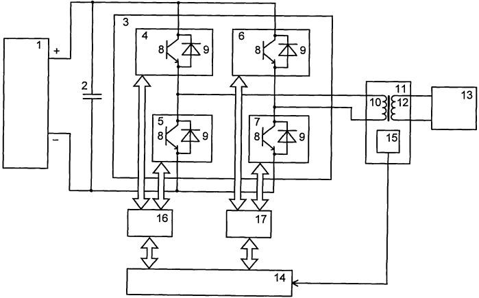 Преобразователь постоянного тока в переменный ток