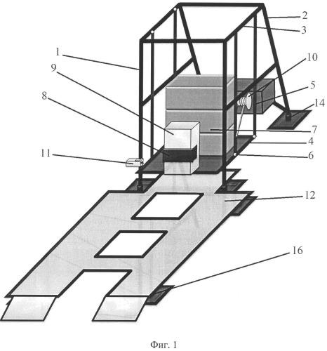 Стенд ударный маятниковый для испытания защитных устройств транспортного средства