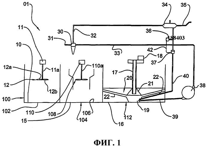 Система обработки воды с балластной флоккуляцией и седиментацией, с упрощенной рециркуляцией осадка и соответствующий ей способ