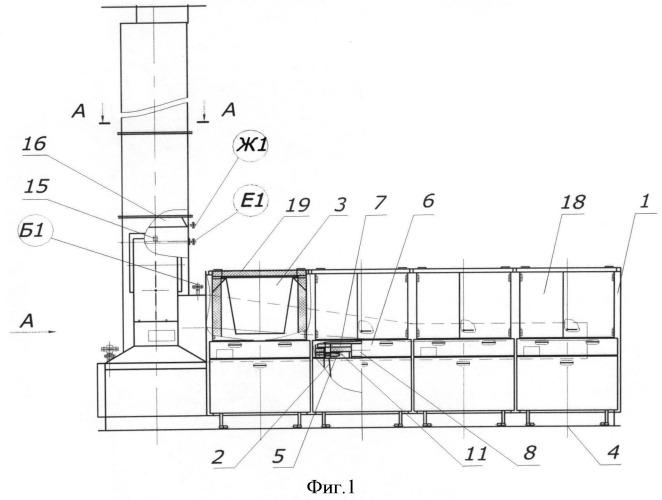 Огневой нейтрализатор промышленных стоков с контейнерным удалением мехпримесей