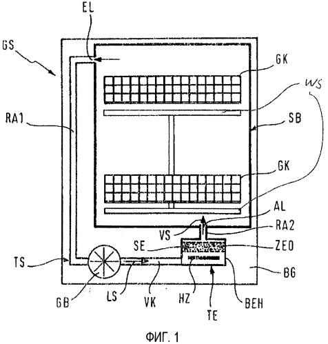 Посудомоечная машина с сорбционным сушительным устройством, снабженным сорбирующим материалом