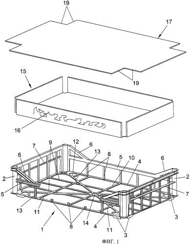 Ящик для упаковки и транспортировки продуктов