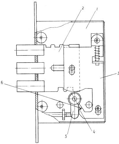 Врезной замок со съемным цилиндровым механизмом