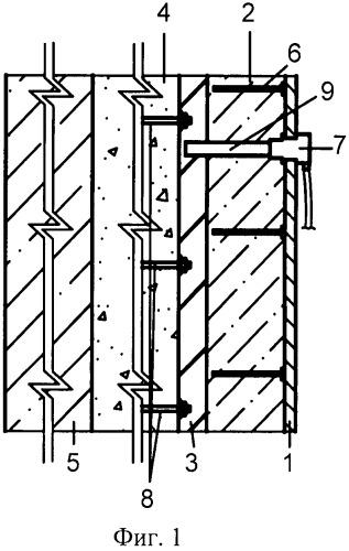 Конструкция крепи вертикального ствола с регулируемым режимом работы