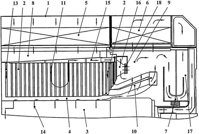 Способ газового охлаждения электрической машины и электрическая машина