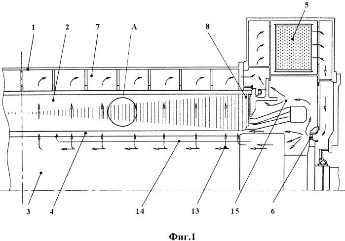 Электрическая машина с газовым охлаждением и способ ее охлаждения