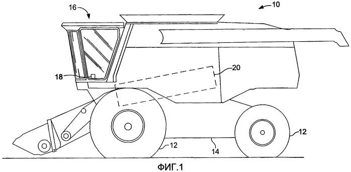 Способ и система управления подвеской подбарабанья секции обмолота уборочной машины