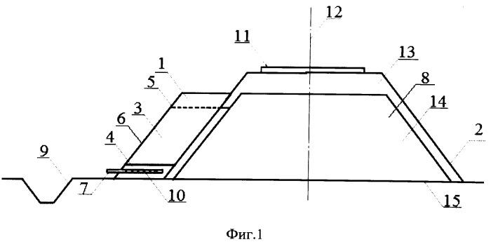 Устройство для отвода воды от балластного слоя железнодорожной насыпи