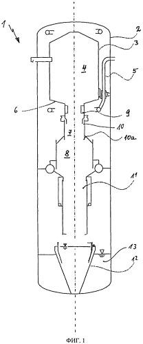 Реактор газификации с охлаждением двойной стенкой