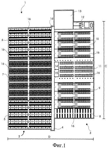 Система вентиляционных каналов для замены по меньшей мере части воздуха в секции стойл или в системе стойл с секциями стойл и способ вентиляции секций стойл или системы стойл