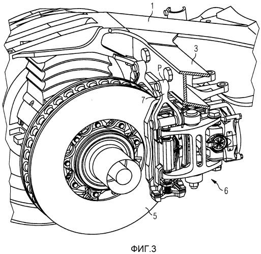 Тормозная балка для рам тележек рельсовых транспортных средств