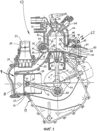 Двухтактный двигатель с низким расходом и низкими выбросами